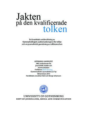thumbnail of Jakten på den kvalificerade tolken Malin Borning