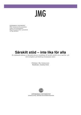 thumbnail of Sommerstein Max Särskilt stöd – inte lika för alla